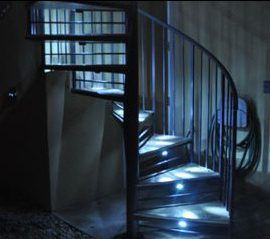 Outdoor Spiral Staircase With Led Lighting In 2019 Stair