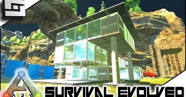 Cool Ark Survival Evolved Modern House Building S2e7 Modded