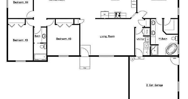 4 Bedroom Rambler Floor Plans Complete Design Inc 2003 Tour Of Homes First Home United
