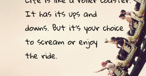 I love roller coasters. Mix that with an inspirational quote, and magic