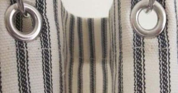 Black Ticking Stripe Shower Curtain Striped Shower Curtains