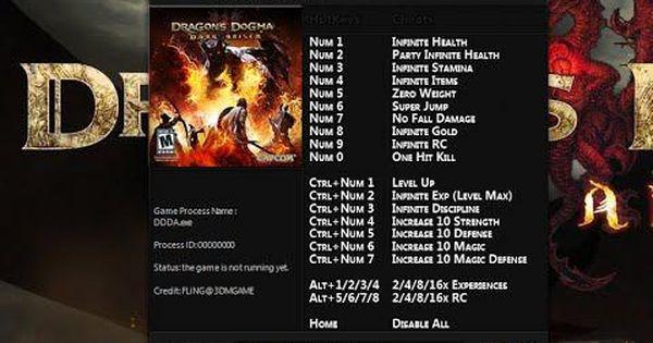 Download Dragons Dogma Dark Arisen 19 Trainer For The Game Dragons Dogma Dark Arisen You Can Get It From Lonebu Dragon S Dogma Dragon Dogma Dark Arisen Dogma