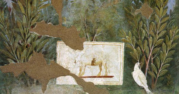 Casa del bracciale d 39 oro garden room mural pompeii ad 79 for Ad garden rooms