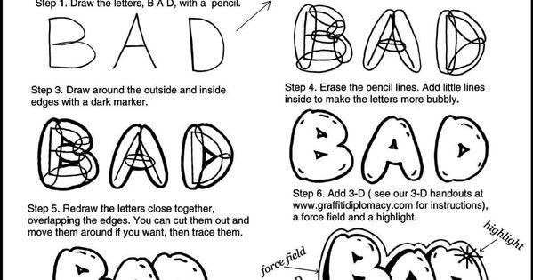 how to draw a graffiti r