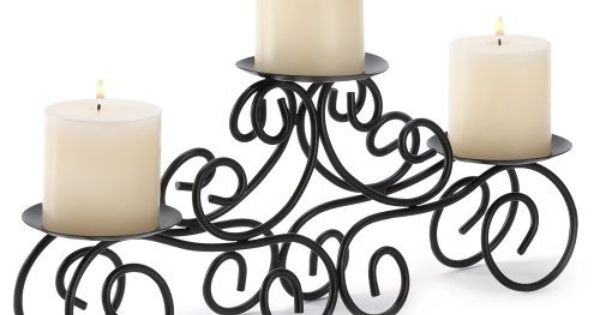 gifts decor tuscan candle holder wrought iron wedding With kitchen cabinets lowes with wrought iron candle holder centerpiece
