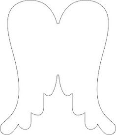 Angel Wing Templates Printable Free Cliparts That You Can Download Diy Angel Wings Angel Wing Ornaments Handmade Angels