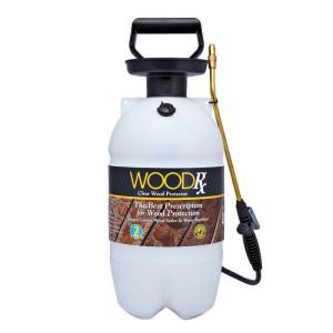 Woodrx 2 Gal Clear Wood Protector With Pump Sprayer And Fan Tip 67007 At The Home Depot Exterior Stain Staining Wood Sprayers
