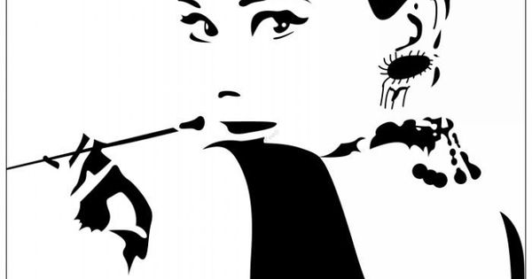 Audrey-Hepburn-Breakfast-at-Tiffany-s-Silhouette ...