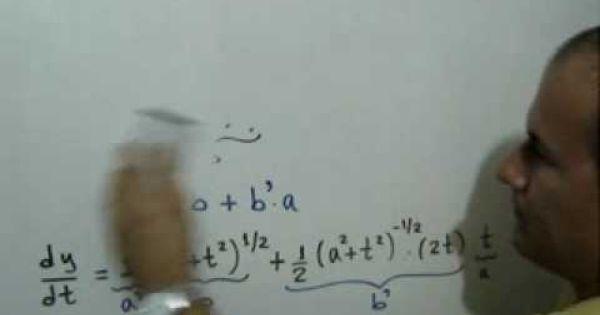 Derivación De Funciones Ejercicio 7 Regla De La Cadena Calculo Diferencial E Integral Derivacion