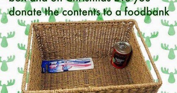 Reverse Advent Calendar Ideas : Reverse advent calendar each day put one item in a box or