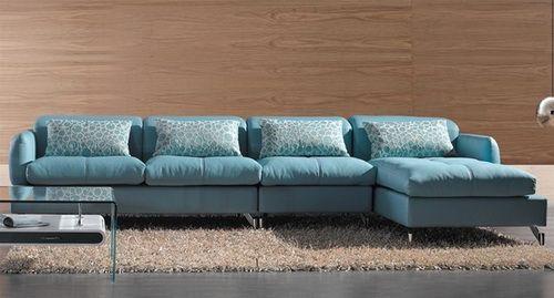 Fantastic Light Blue Leather Sofa In 2020 Modern Sofa Sectional Blue Leather Sofa Sofa Design
