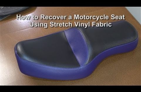How To Recover A Motorcycle Seat Using Stretch Vinyl