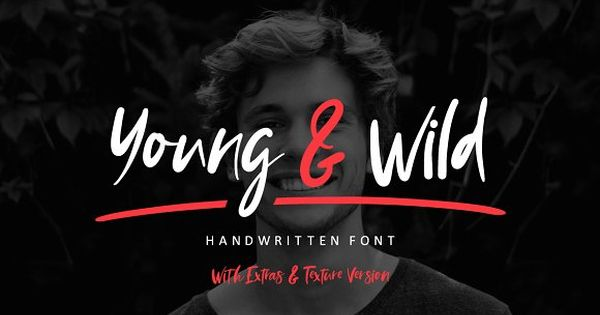 NEW! Young & Wild Brush Font by Wewhitelist on @creativemarket