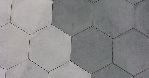 Carrelage hexagonal gris et blanc sol et mur 15x15 s rie for Carrelage hexagonal blanc