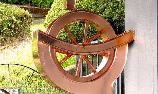 Water Wheel Copper Downspout Gutters Amp Downspouts