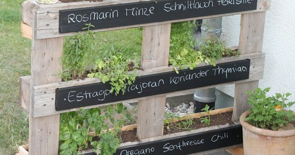 DIY pallet herb garden