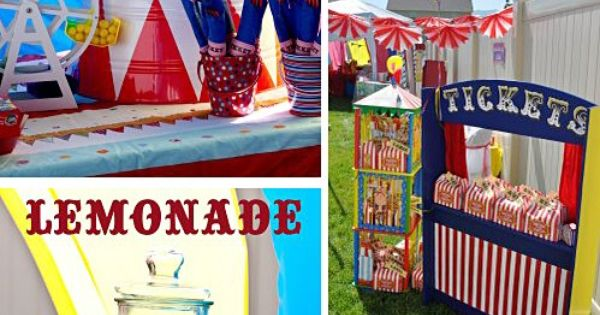 kids carnival birthday party | Big Top Circus Birthday Party Ideas |