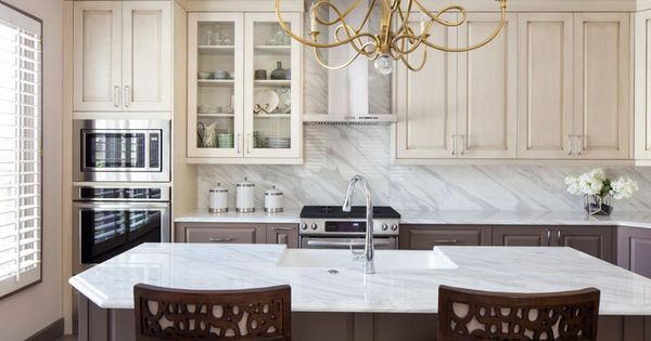 Best Creamy Upper Cabinets Contrast Against Soft Brown Lower 400 x 300