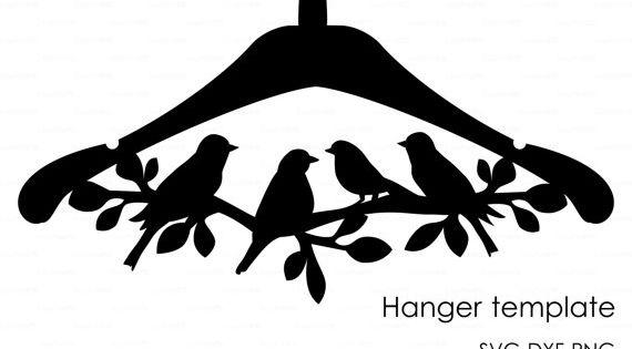 hanger bird branch die cut wooden template file eps svg. Black Bedroom Furniture Sets. Home Design Ideas