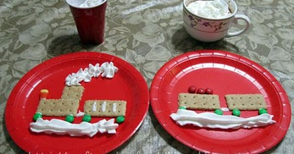 Polar Express Movie Night featuring crafts, activities, and a cute graham cracker