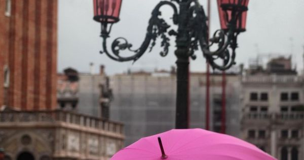 The Pink Umbrella (Piazza San Marco, Venice, Italy) by © Ines Seppi