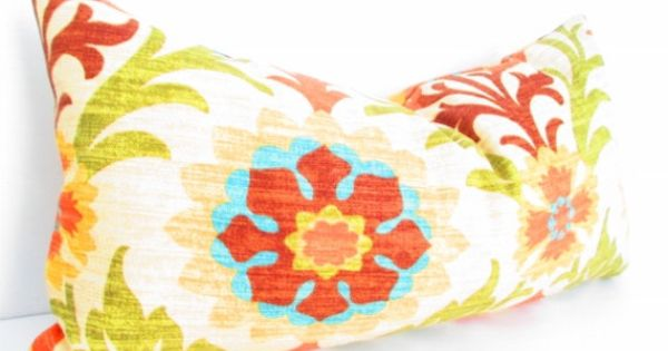 Southwestern Chic Decorative Designer Pillow Cover, Long Pillow, Lumbar Cushion Mustard Yellow ...