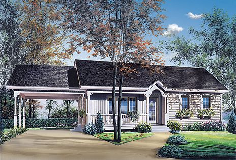 Attached carports attached carport plans image search for Carports attached to house pictures