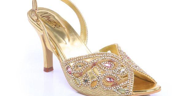 Unze Women Indian Bridal Sandals L19428 Mostly Flats