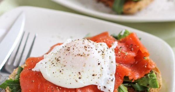 Smoked Salmon & Avocado Open-Faced Egg Sandwich | Health ...