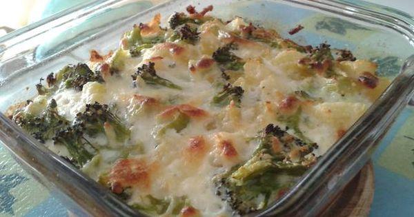 Gratinado de br coli y patatas con queso receta - Gratinado de patata ...
