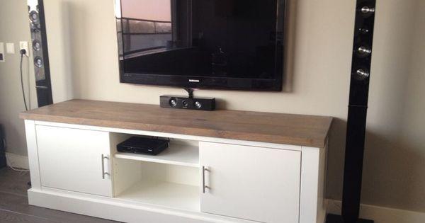 Audio tv meubel op maat tot in detail bijpassend bij de andere meubels - Console ingang kast lade ...