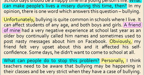 essay against bullying