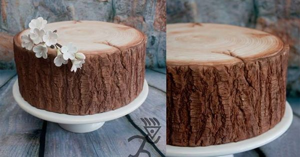 торт пенёк фото