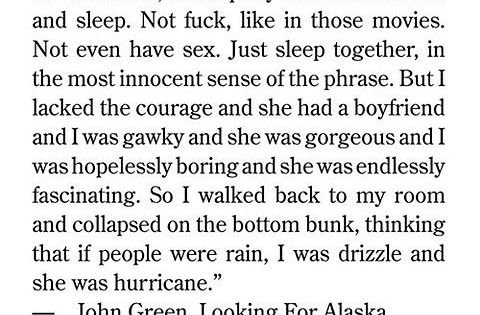 I just read this book, Looking For Alaska, by John Green the