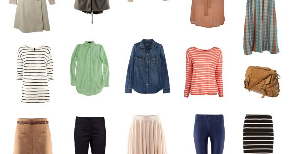 plan organize shop capsule wardrobe