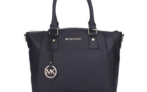 Cheap Michael Kors Miranda Logo Large Black Totes Clearance