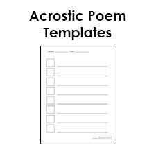 Printable Acrostic Poem Templates For Kids Pdf Format Acrostic