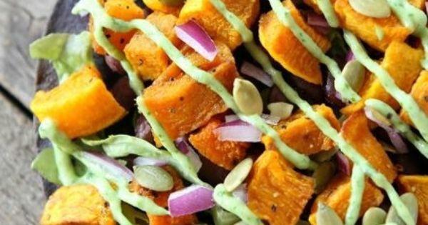 Butternut Squash Black Bean Tostada Recipe   Nommings   Pinterest ...