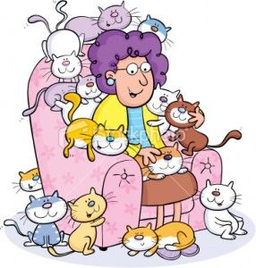 Crazy Old Cat Lady Old Cats Cartoon Crazy Cat Lady