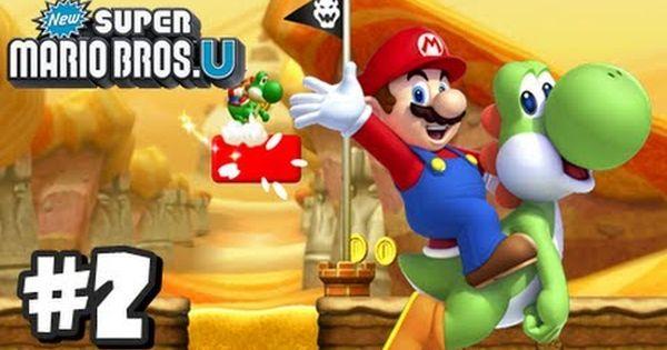 New Super Mario Bros U Wii U Part 2 World 2 1 2 2 2 3 2 Tower Youtube Super Mario Super Mario Bros Mario Bros
