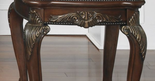 Traditional End Table With Glass Top And Shelf In A Rich