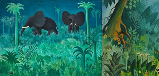 Jungle And Animals Paintings By Danish Hans Scherfig Animal Paintings Painting Artist