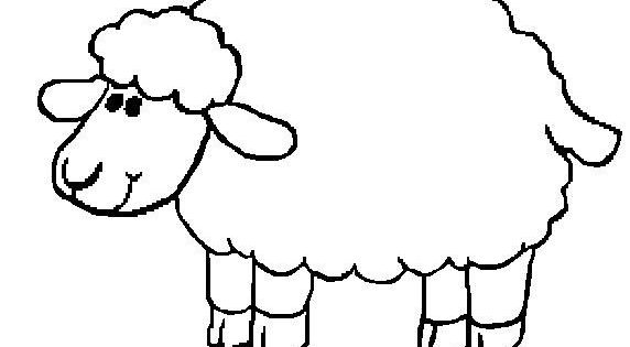 Sheep coloring page printable another sheep template for for Lamb cut out template