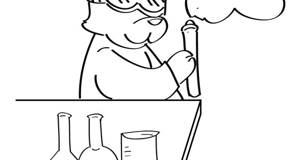 Science color sheets free chemistry coloring page