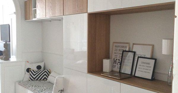 meubles ikea method id e rangement pi ce vivre du studio am nagement pinterest coins. Black Bedroom Furniture Sets. Home Design Ideas