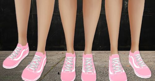 Vans Pink Old Skool Sneaker for The Sims 4 | Sims 4, Sims