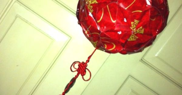 Ang pao ball lantern 1 cny pinterest for Ang pao decoration