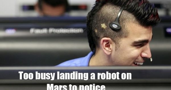Curiosity rover lands on Mars, NASA Mohawk Guy becomes meme