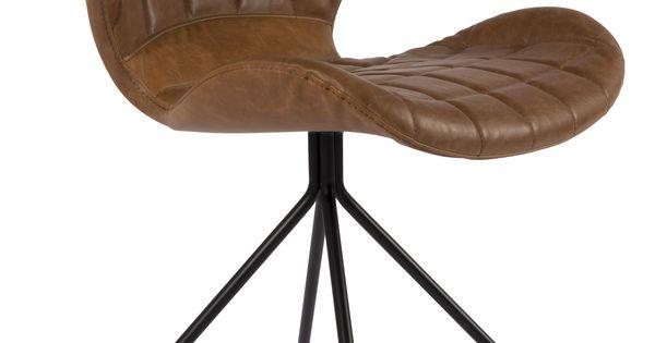 Omg stoel zuiver ll bruin eetkamerstoelen for Chaise zuiver omg