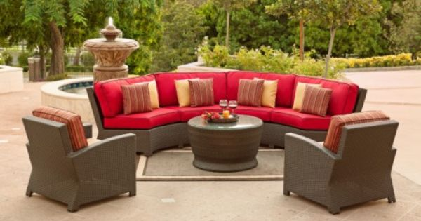 Cabo Half Moon Sectional Patio Furniture Outdoor Life
